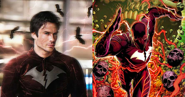 The Flash: Ian Somerhalder Becomes Red Death In Cool Fan Art