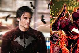 The Flash: Ian Somerhalder Becomes Red Death In Cool Fan Art