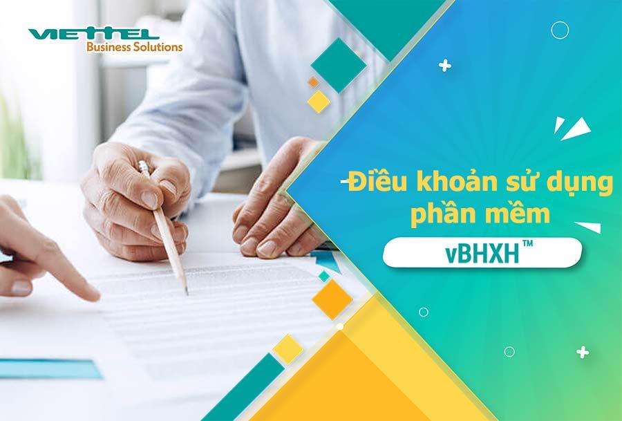 Ảnh minh họa: Điều khoản sử dụng phần mềm kê khai bảo hiểm xã hội VBHXH