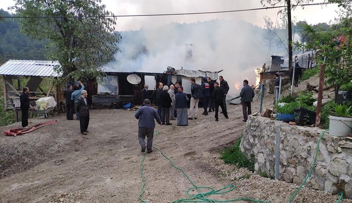 Mudurnu Keçikıran Köyü'nde Yangın