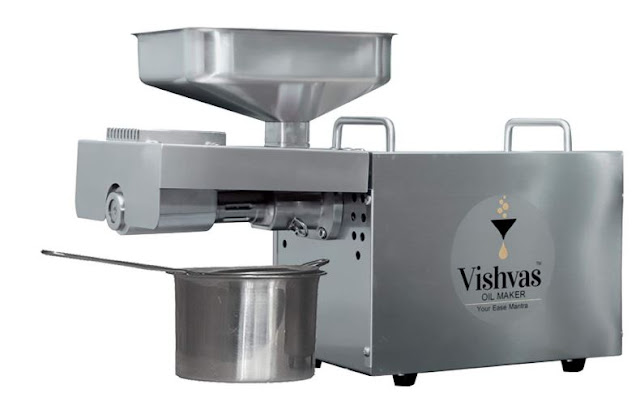 Vishvas Oil Maker VI-582 600W Stainless Steel Automatic Oil Extractor Machine with Temperature Control Extract Oil