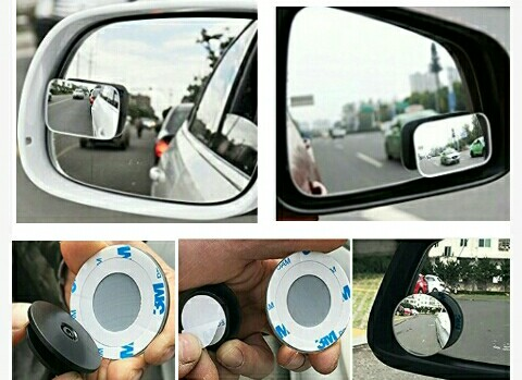 Blind-Spot Car Mirrors by AmFor: Universal HD Convex Glass Lens for Vehicle Views