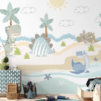 Mural infantil Dinosaurios