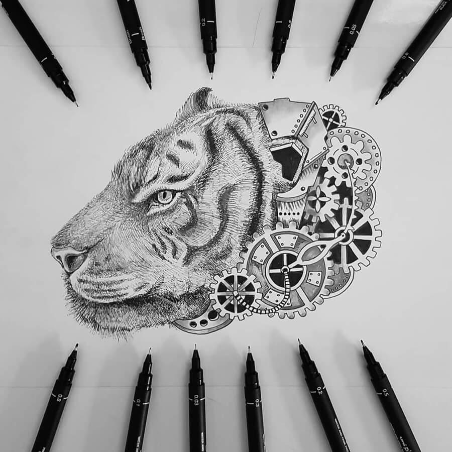 15-Tiger-Steampunk-Steve-Turner-www-designstack-co