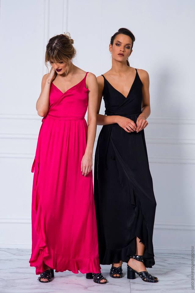 Vestidos de verano 2018 ropa de mujer. Vestidos largos 2018.