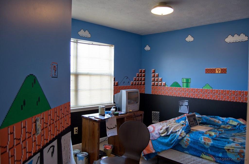 Dormitorio tema Mario Bros