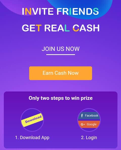 """silahkan klik disini dan download aplikasi VeeU dengan cara mengklik """"Earn Cash Now""""."""