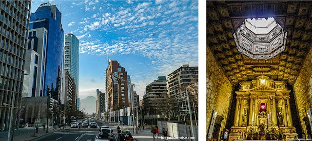 A moderna Santiago e a herança colonial na Igreja de São Francisco