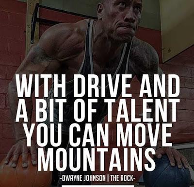 Dwayne Johnson Gym Quotes