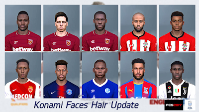 PES 2017 Konami Faces Update V1 by Mirukuu