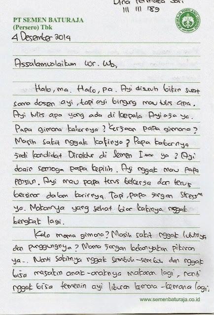 Contoh Surat Pribadi untuk Orang Tua (via: contohsuratin.com)