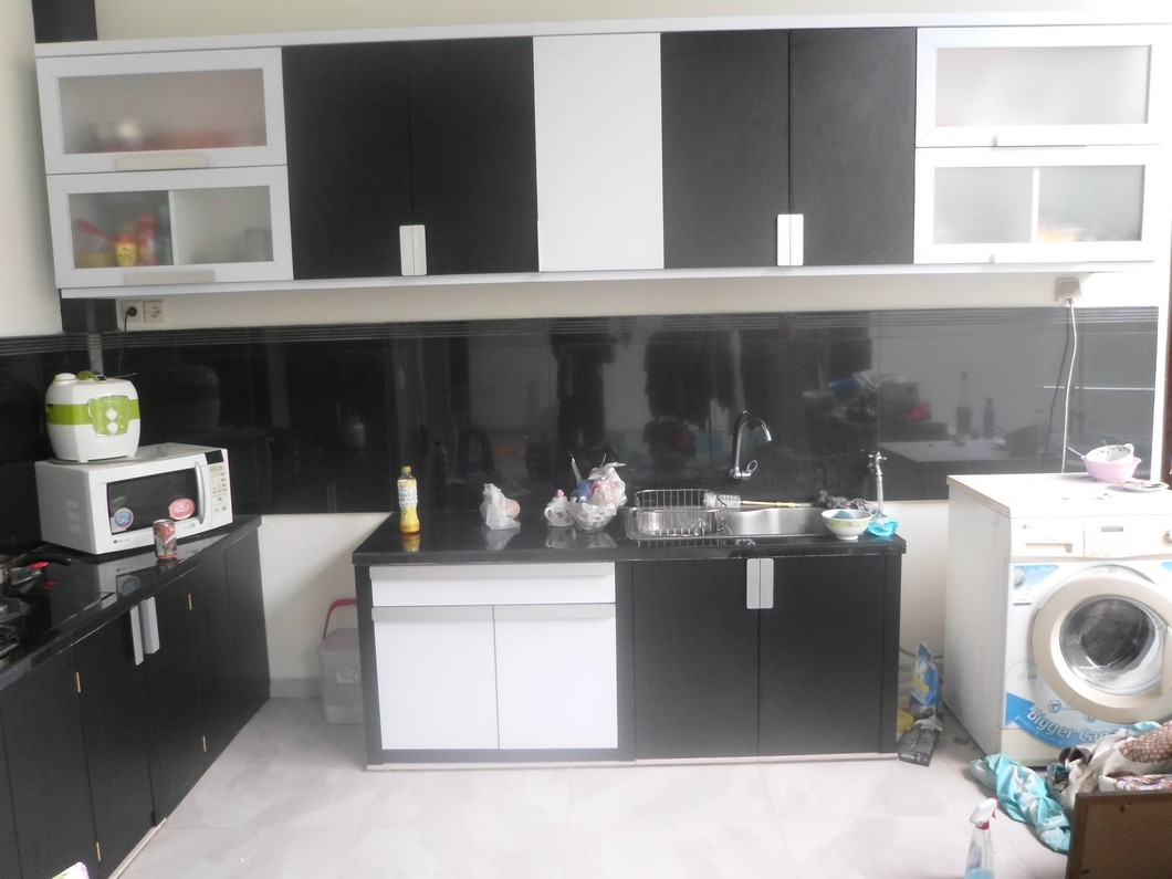 Kitchen Set Hitam Putih Monokrom Furniture Semarang Custom
