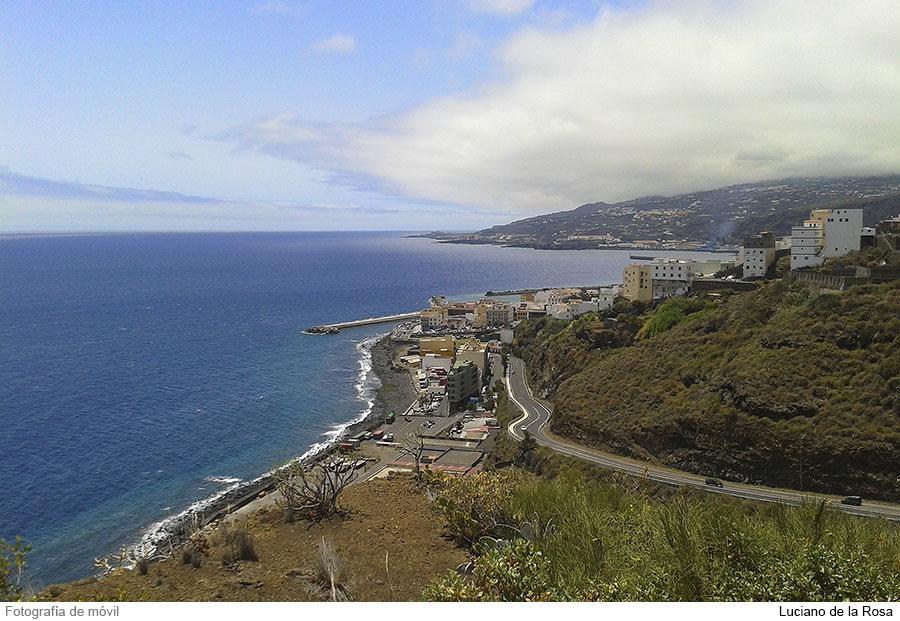 Vistas desde el mirador astronómico Barranco del Carmen en La Plama (Islas Canarias).