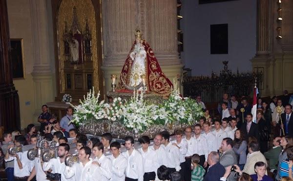 Horario e Itinerario Procesión de la Virgen de Araceli tras el Rosario de Gloria. Málaga 17 de Octubre del 2021