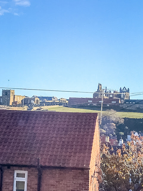 Mariner's Cottage Whitby view of Whitby Abbey from bedroom