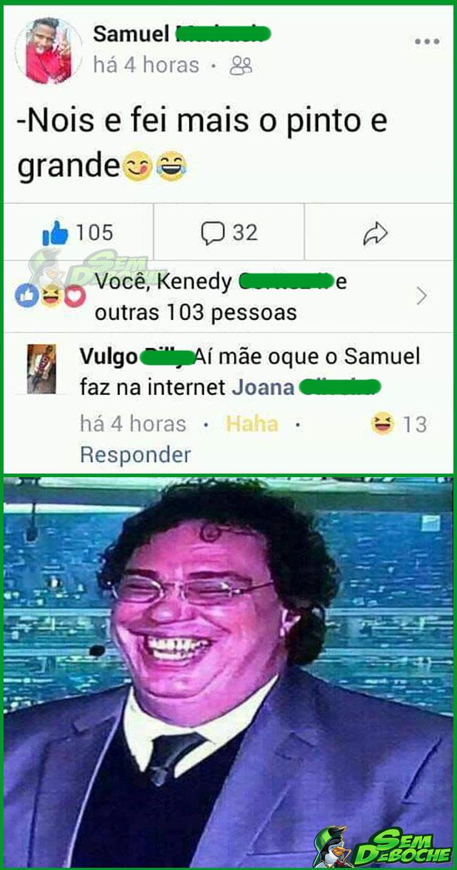CAGUETANDO O IRMÃO PRA MÃE NA REDE SOCIAL