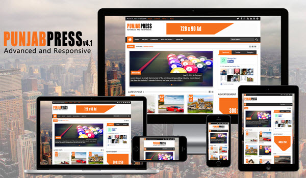 Punjab Press v5.0 Blogger Template Free Download