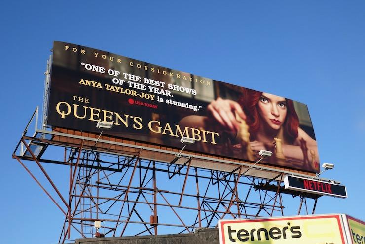 Queens Gambit FYC billboard