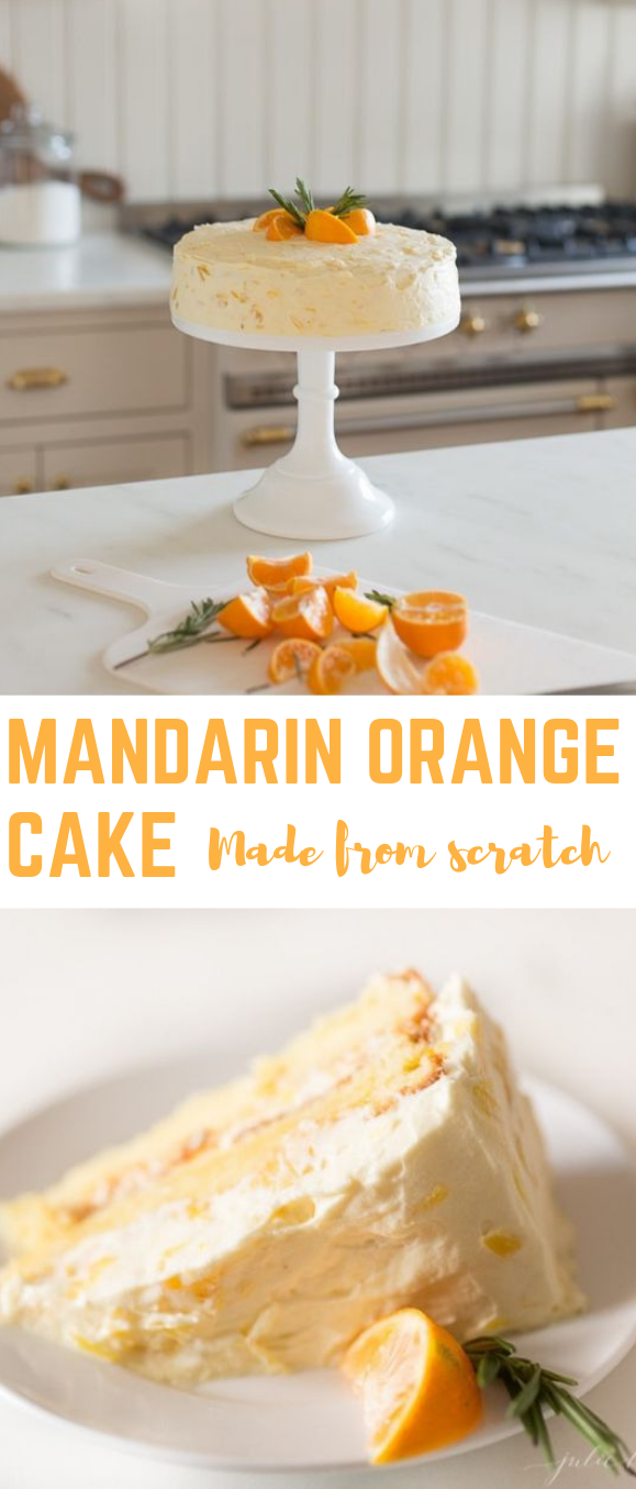 Mandarin Orange Cake  #cake #delicious
