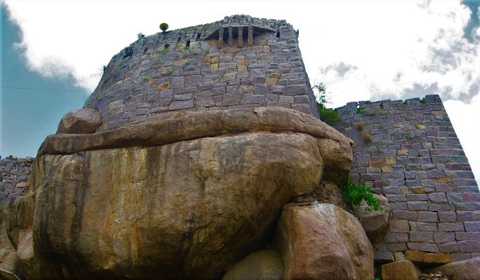 Smiling Rock at Golconda fort