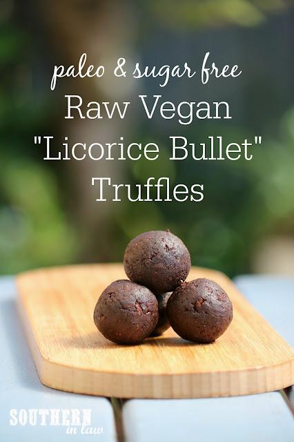 Raw Vegan Licorice Bullet Truffle Bites Recipe - raw, paleo, vegan, gluten free, chocolate covered licorice, healthy, sugar free