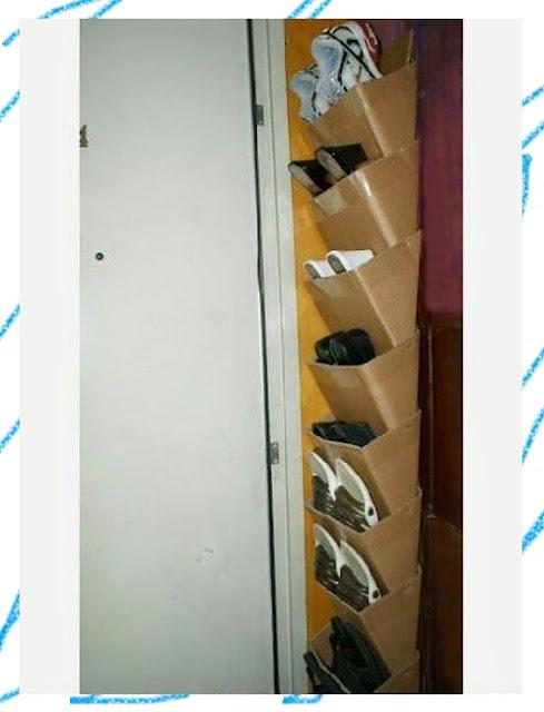 DIY ชั้นวางรองเท้าดีไซน์ไม่เหมือนใครจากกล่องกระดาษเหลือใช้ง่ายนิดเดียว