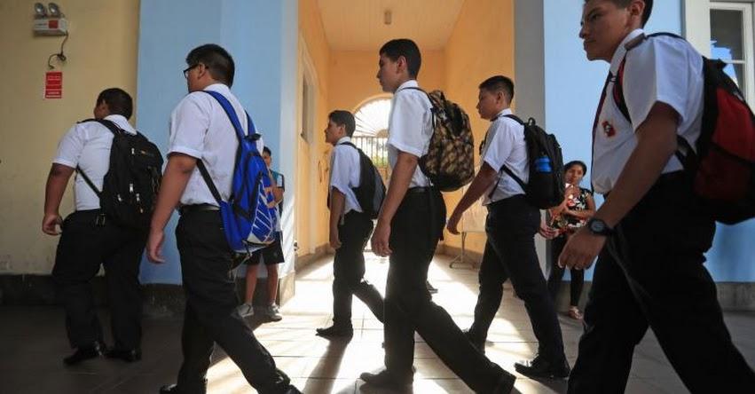 Según el MINEDU, expulsar a un alumno no soluciona el problema