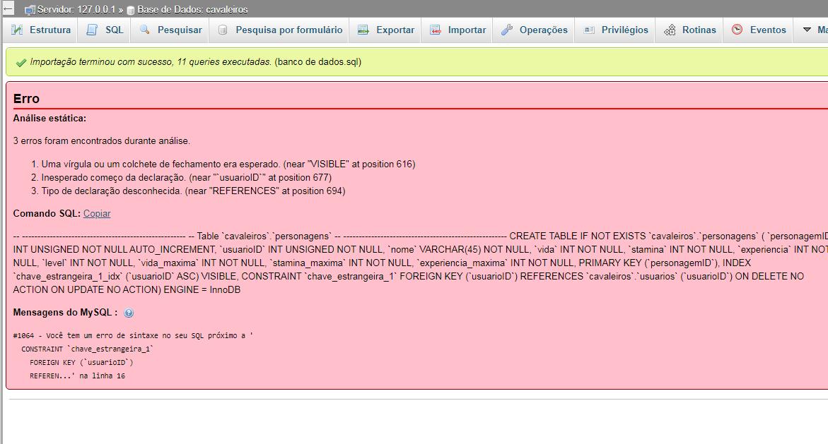 Erro browser game phpadmin Apagar9