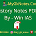 History Notes PDF in Hindi By - Win IAS