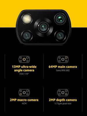posisi kamera Xiaomi poco X3