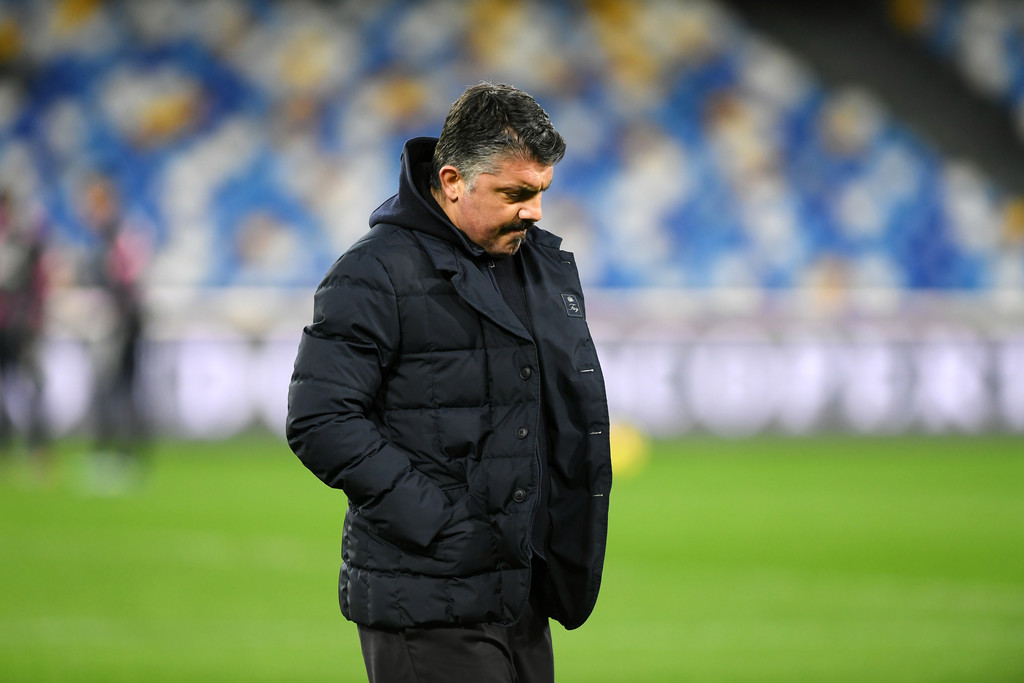 Gennaro Gattuso SSC Napoli coach during the Serie A match between SSC Napoli and Juventus at Stadio Diego Armando Maradona on February 13, 2021 in Naples, Italy