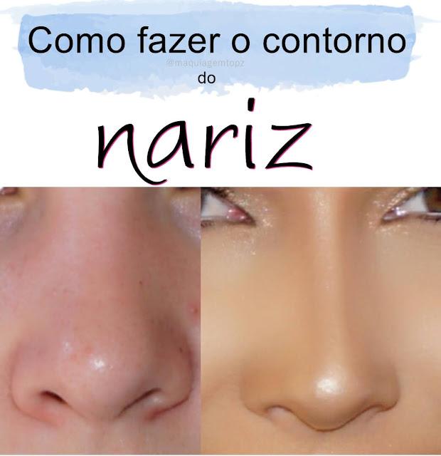 Como fazer contorno de nariz com maquiagem