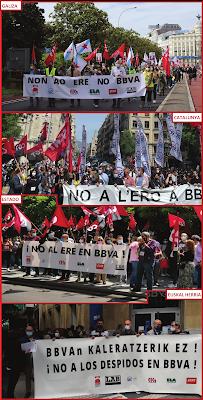 Imaxes da folga en Galiza, Catalunya, Euskal Herría e resto do Estado