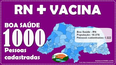 Boa Saúde já tem mais de 1000 cadastrados para serem vacinados
