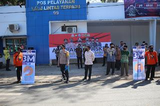 Kapolres Bantaeng Kampayekan Penggunaan Masker Dalam Rangka Operasi Yustisi