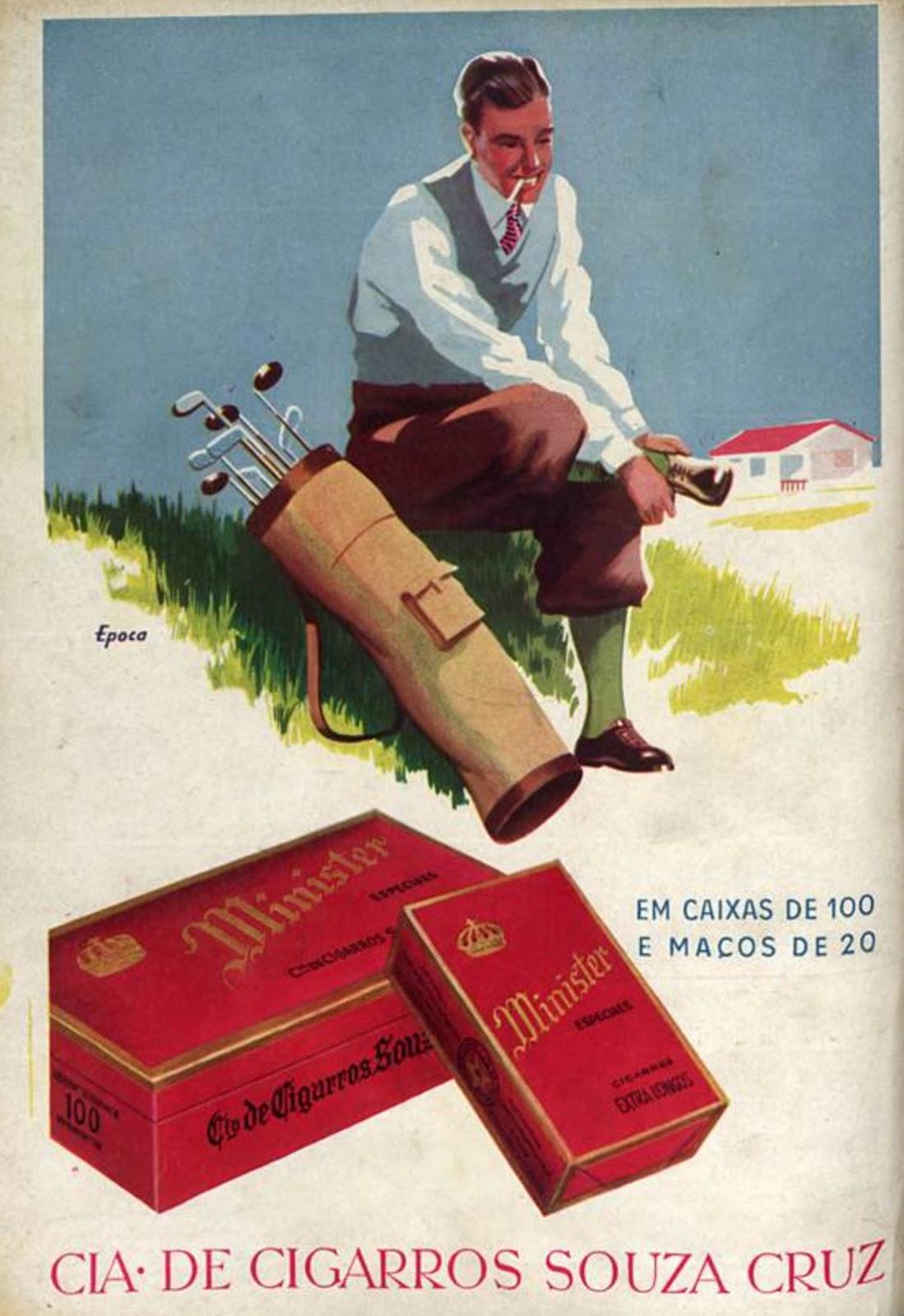 Propaganda antiga dos Cigarros Minister veiculada em 1945