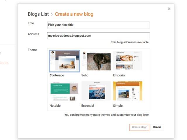 make a blog, start a blog, blogging, step to start a blog free