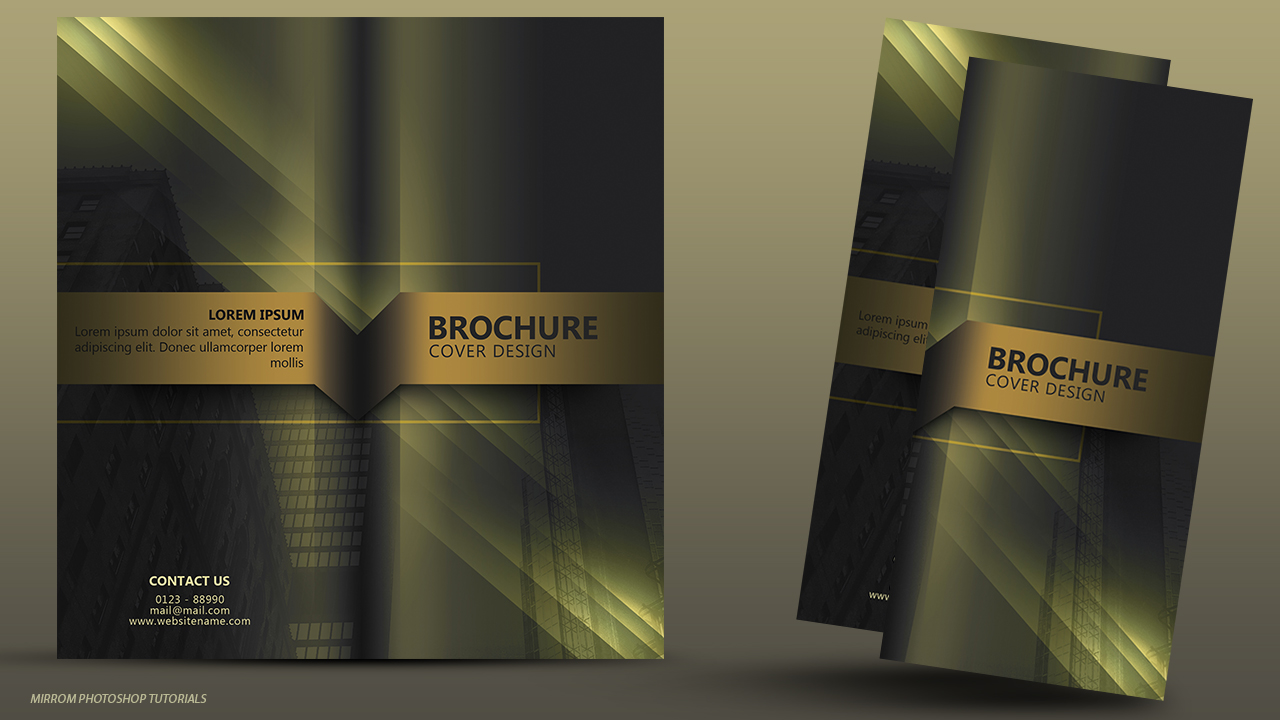 Design a Brochure Cover With Elegant Style In Photoshop
