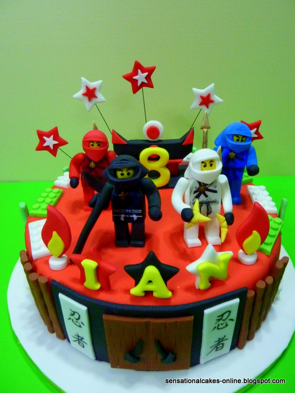 The Sensational Cakes New Ninjago 1 Tier Cake Singapore