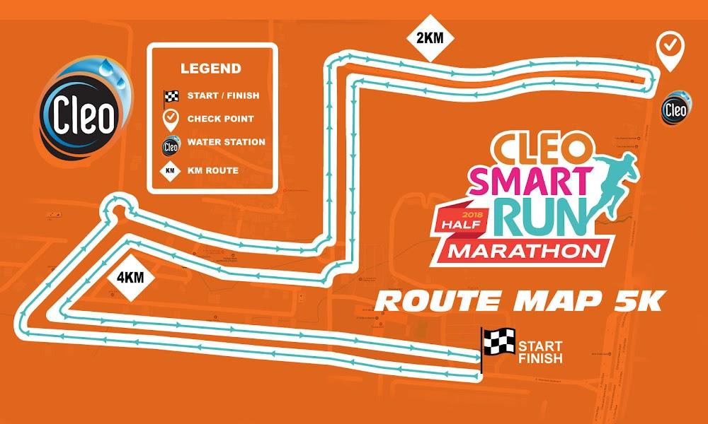 Cleo Smart Run Half Marathon 2018 Rute 5K