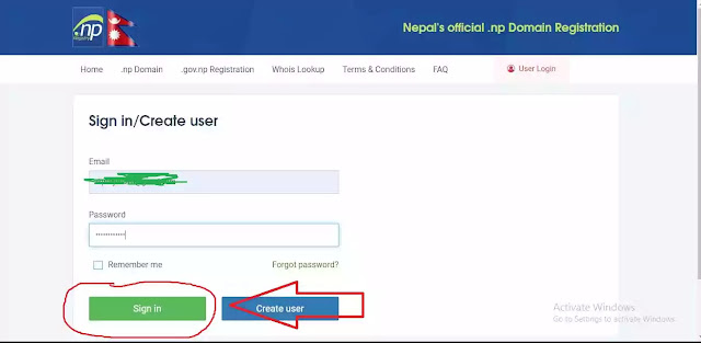 how to register .com.np domain in Nepal