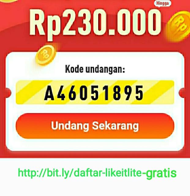 Aplikasi Likeit Lite Penghasil Uang
