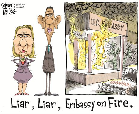 Image result for hillary, obama lying cartoons