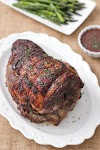 Roasted Boneless Leg of Lamb With a Red Wine Sauce
