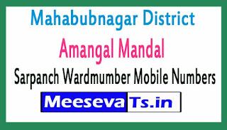 Amangal Mandal Sarpanch Wardmumber Mobile Numbers List Part I Mahabubnagar District in Telangana State