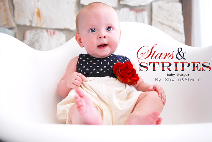 ce5962a43 Stars and Stripes Baby Romper {Free PDF Pattern} - Shwin and Shwin