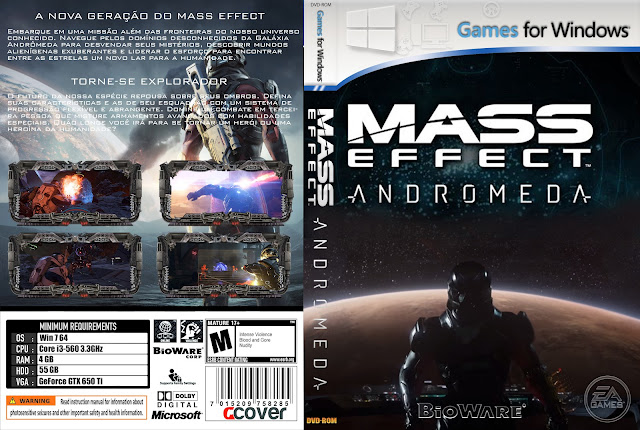 Capa Mass Effect Andromeda PC [Exclusiva]