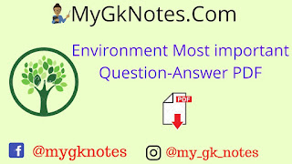 Environment Most important Question-Answer PDF