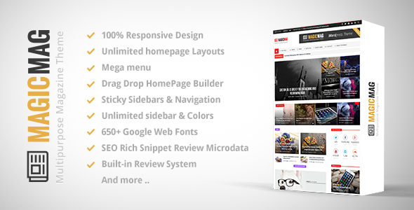 Download MagicMag v1.4.1 Responsive WordPress News,Magazine,Blog Theme