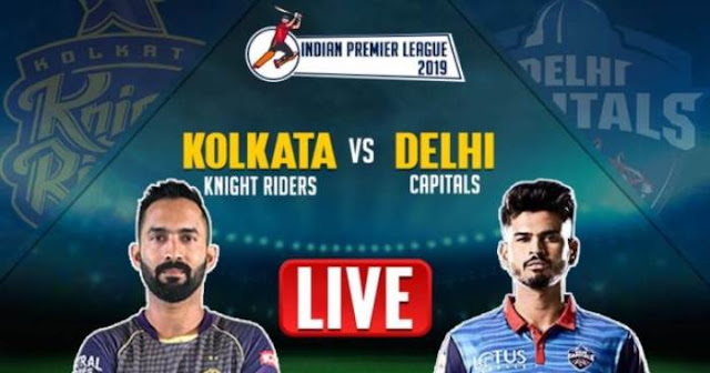 VIVO IPL 2019 Match 10 DC vs KKR Live Score and Full Scorecard
